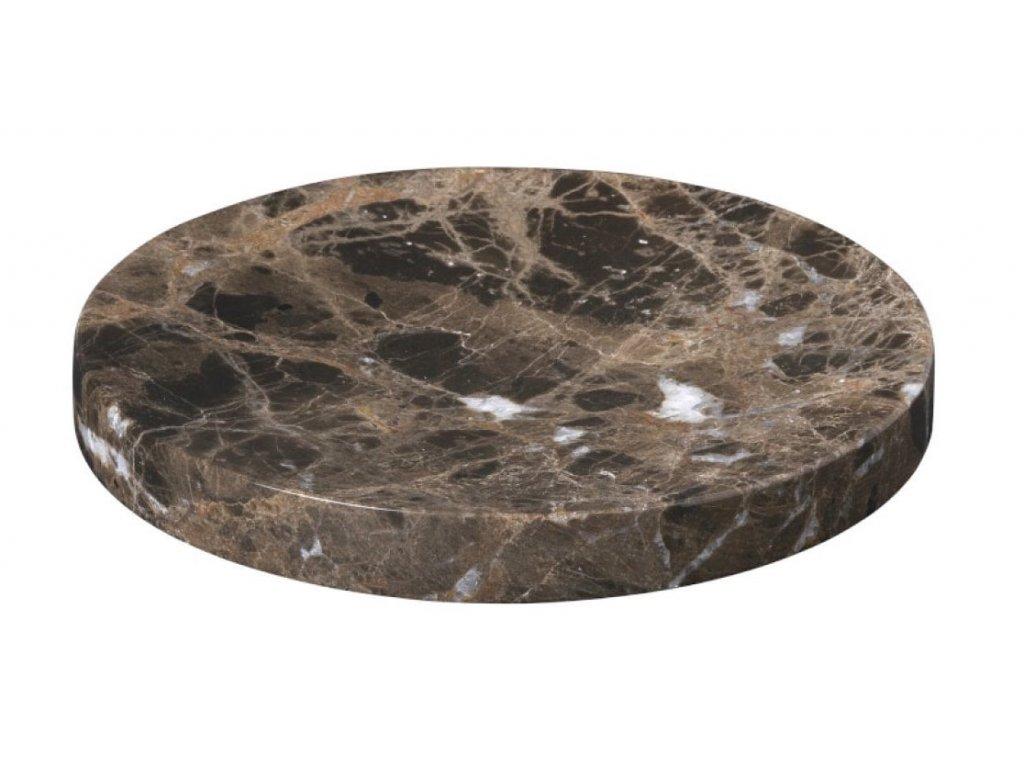 2795 1 pesa mramorova podlozka 19 cm hneda