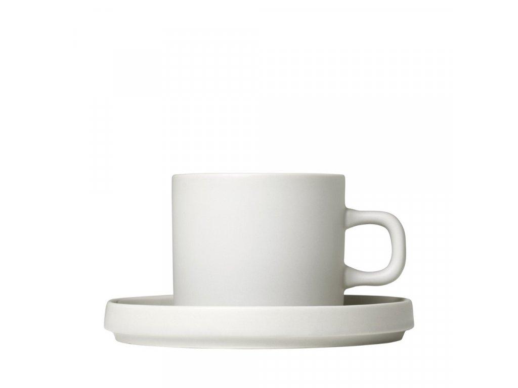 PILAR sada 2 kávových šálků s podšálky moonbeam/krémová