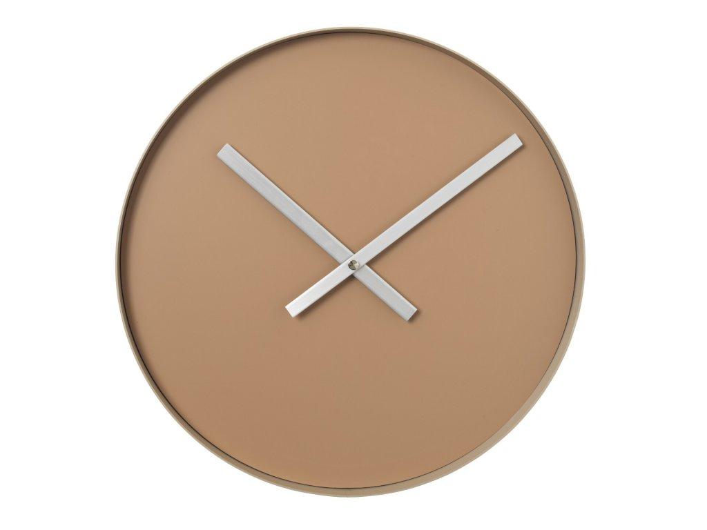 3110 1 rim nastenne hodiny 40 5 cm indian tan bezova