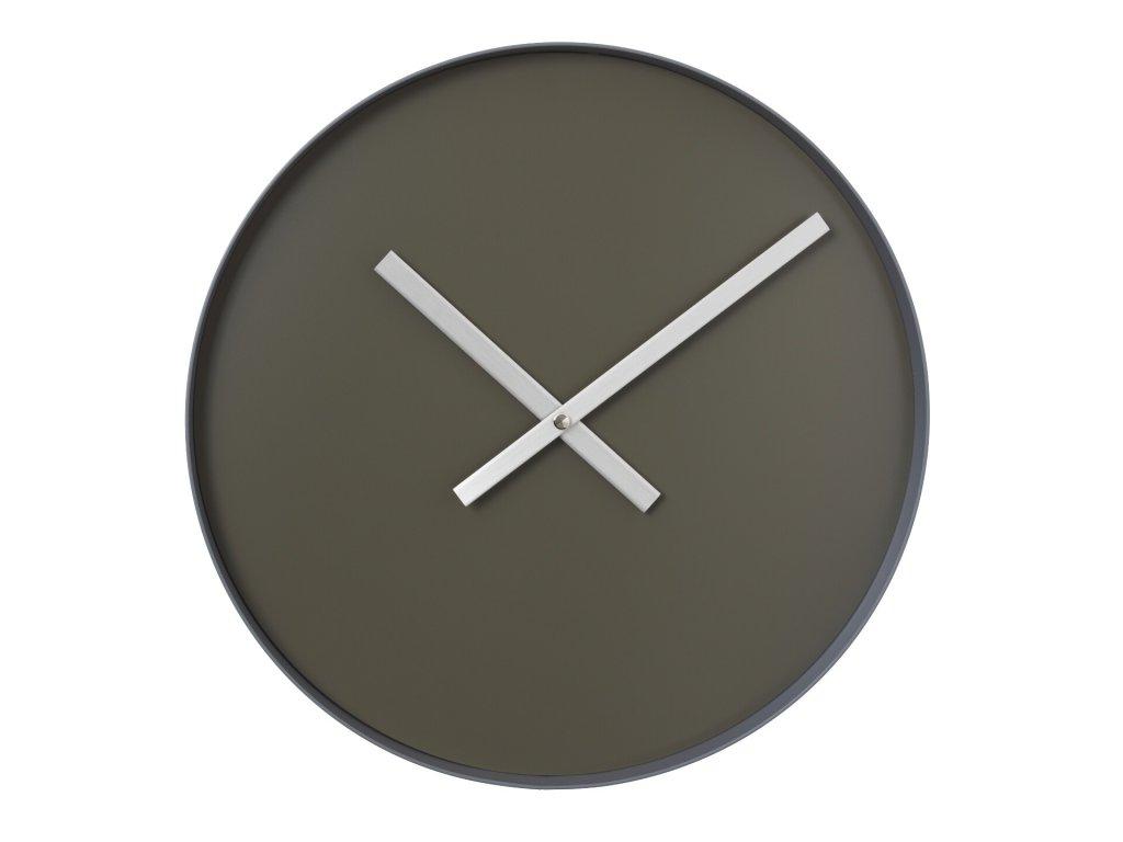 3116 1 rim nastenne hodiny 40 5 cm sedohneda ocelove seda