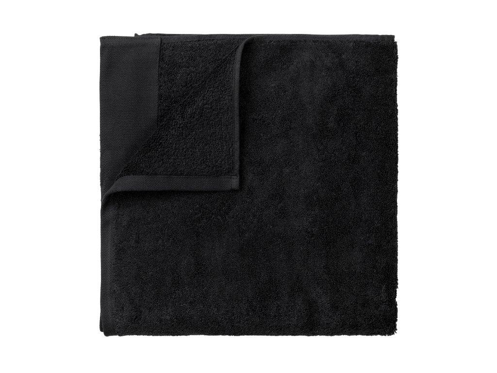 3227 1 riva saunovy rucnik 100 x 200 cm cerna