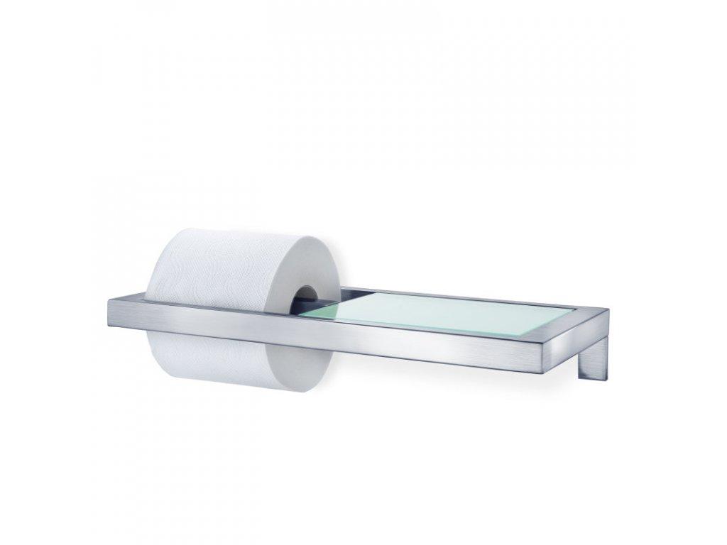 938 3 menoto drzak na toaletni papir se sklenenou polickou matny