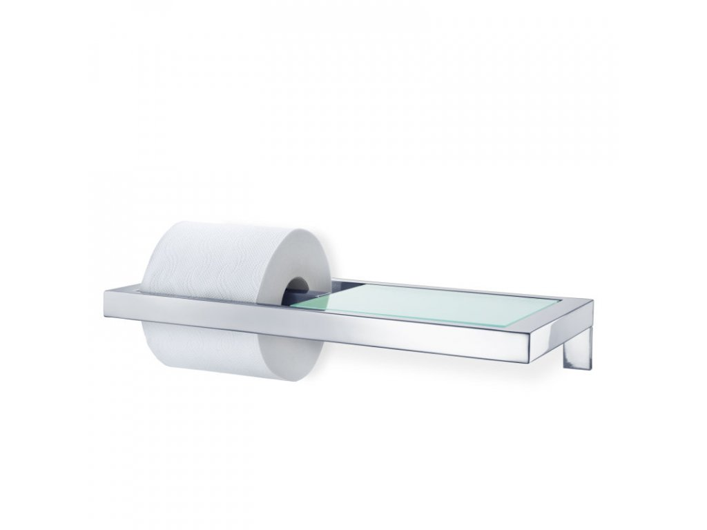 998 3 menoto drzak na toaletni papir se sklenenou polickou leskly