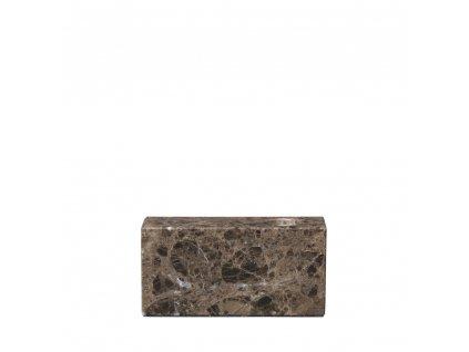 1595 1 bloc hnedy mramorovy svicen