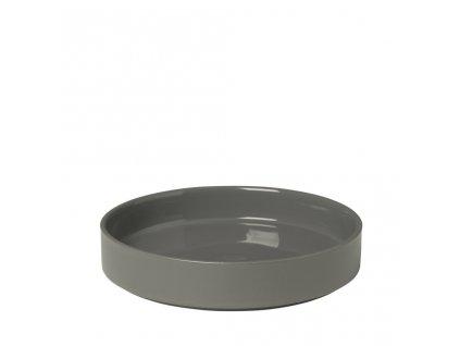 PILAR hluboký talíř pewter/šedá