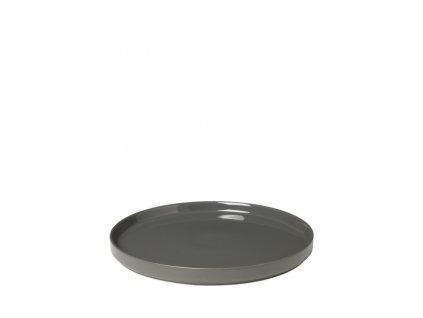 PILAR mělký talíř pewter/šedá