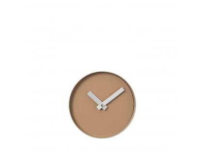 3101 1 rim nastenne hodiny 20 cm indian tan bezova