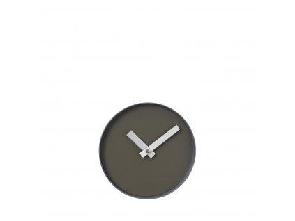 3107 1 rim nastenne hodiny 20 cm sedohneda ocelove seda