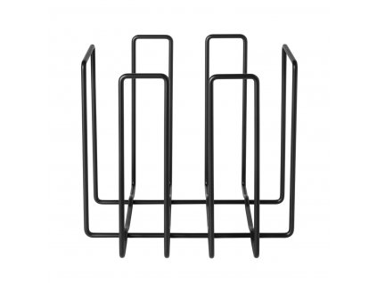 4067 1 wires stojan na casopisy cerna