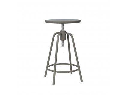 Otočná stolička sivá