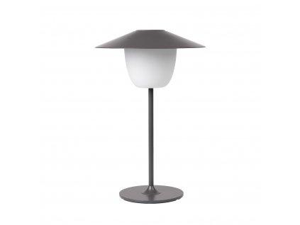 Mobilná LED lampa ANI LAMP nízka hrejivo šedá