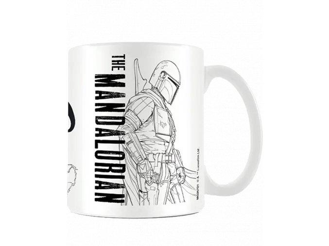 Hrnek Star Wars - Mandalorian: Line Art (315 ml)
