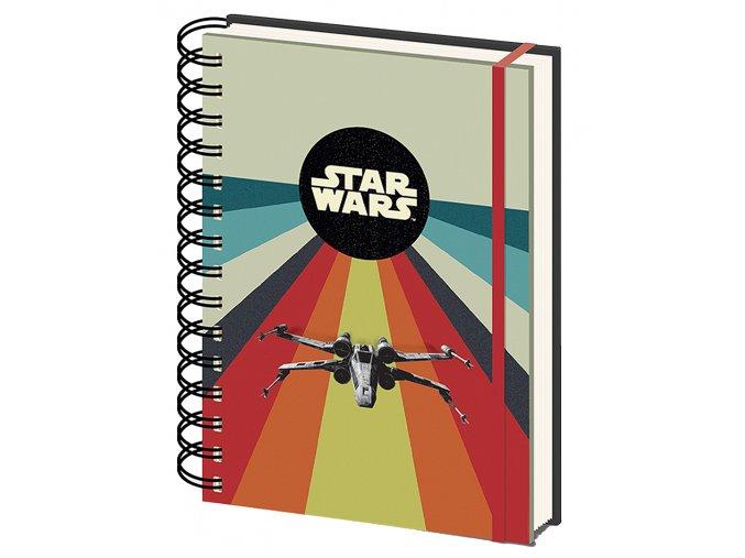 Zápisník Star Wars: Retro X-Wing (A5, 80 listů - 160 stran)