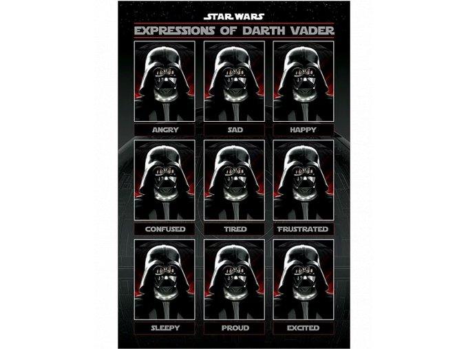 Plakát Star Wars: Darth Vader a jeho výrazy (91,5 x 61 cm)