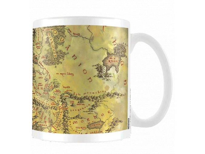Hrnek Pán prstenů: Mapa Středozemě