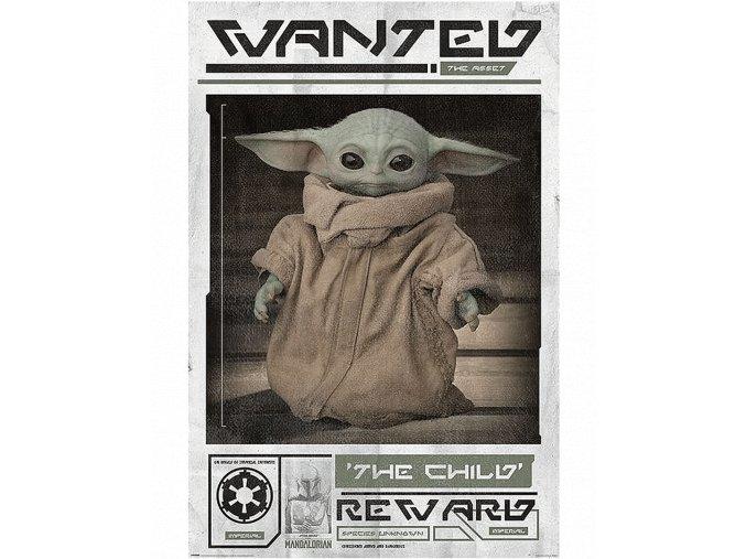 Plakát Star Wars - Mandalorian: Wanted - The Child (91,5 x 61 cm)