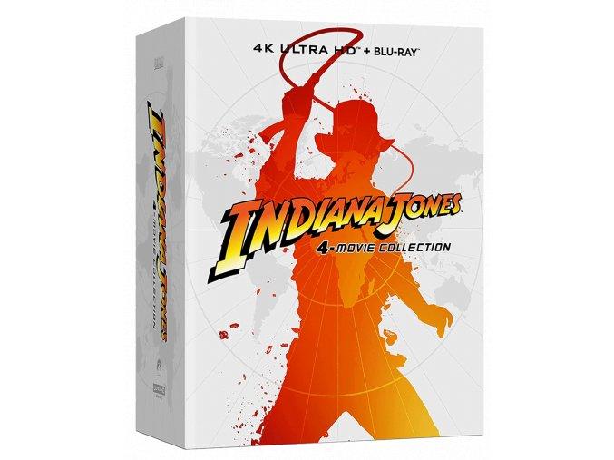 Indiana Jones 1-4 (4k kolekce, Steelbooky, 4x 4k Ultra HD Blu-ray + 5x Blu-ray)