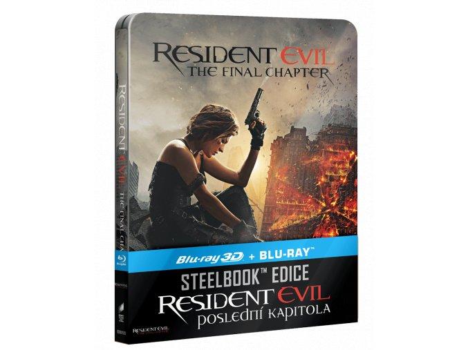 Resident Evil: Poslední kapitola (Blu-ray 3D, steelbook)