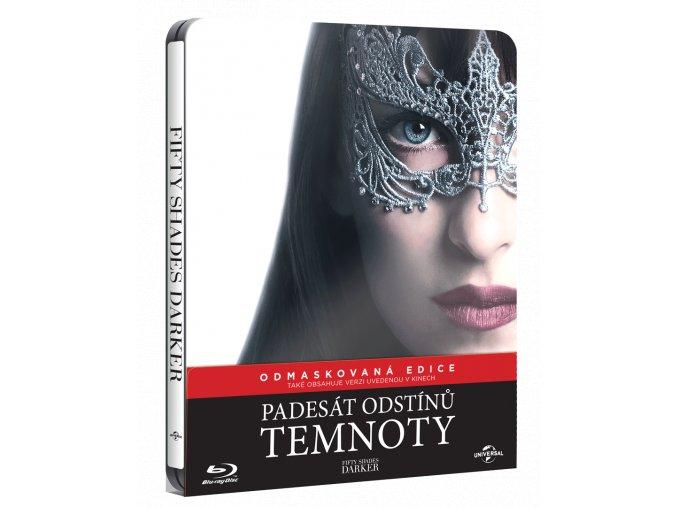 Padesát odstínů temnoty (Blu-ray, původní i prodloužená verze, Steelbook)