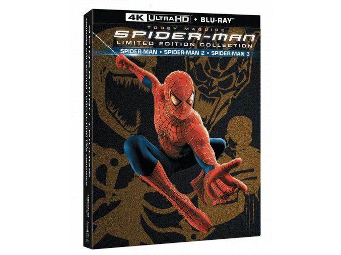 Spider-Man 1-3 (3x 4k Ultra HD Blu-ray + 4x Blu-ray)