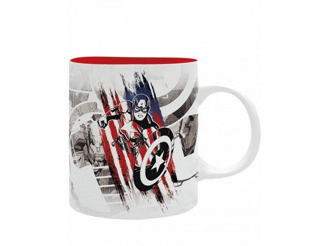 Hrnek Captain America (Red Edition, 320 ml)