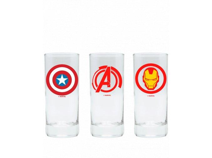 Set Sklenic Marvel (Avengers, Captain America, Iron Man)