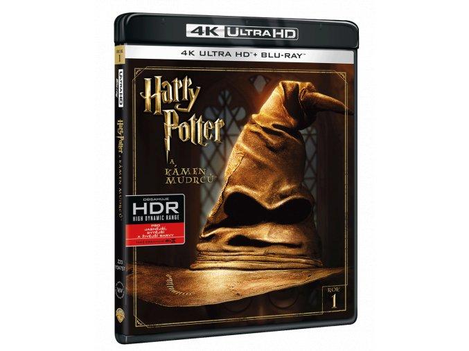 Harry Potter a Kámen mudrců (4k Ultra HD Blu-ray + Blu-ray)