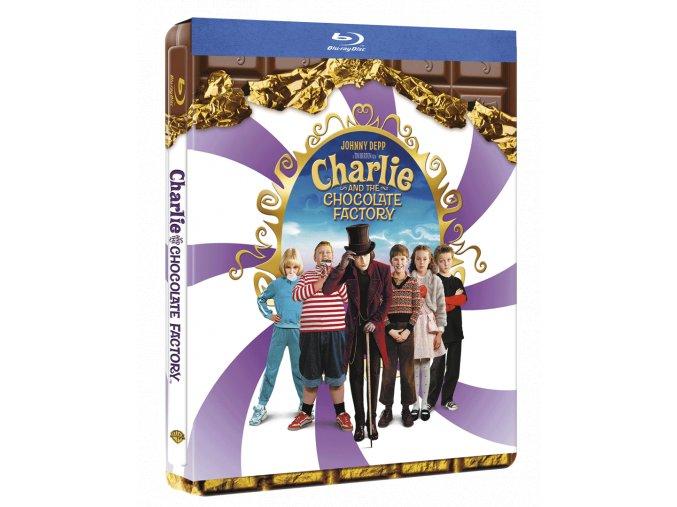 Karlík a továrna na čokoládu (Blu-ray, Steelbook)