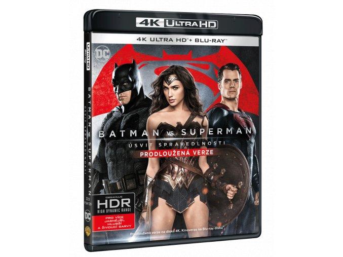 Batman vs. Superman: Úsvit spravedlnosti (Prodloužená + původní verze, 4k Ultra HD Blu-ray + Blu-ray