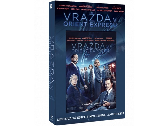 Vražda v Orient expresu (Blu-ray s Moleskine diářem)