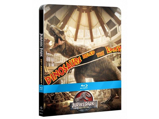 Jurský park 1-4 (Kolekce, 4x Blu-ray, Steelbook)