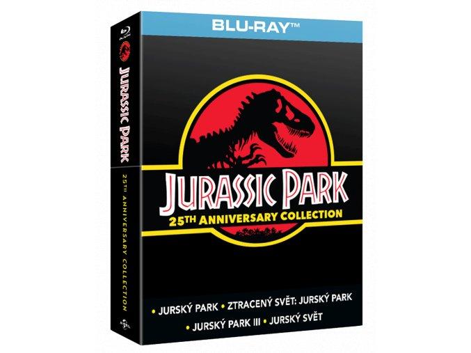 Jurský park 1-4 (Kolekce, 4x Blu-ray,Soundbox)
