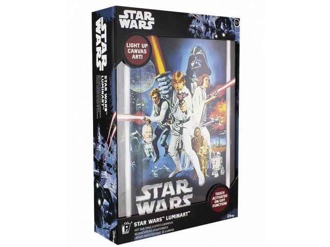Světelný obraz Star Wars (s LED podsvícením, 20 x 30 cm)