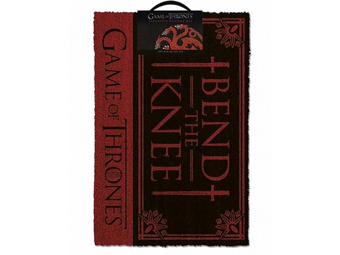 Rohožka Game of Thrones: Poklekni (Bend the Knee, 60 x 40 cm)