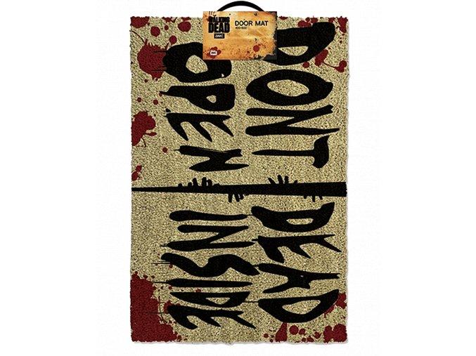 Rohožka The Walking Dead (Živí mrtví) - Don´t Open, Dead Inside (60 x 40 cm)