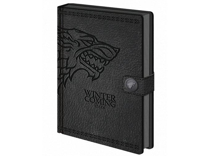 Zápisník Hra o trůny - Stark (A5, linkovaný, napodobenina kůže)