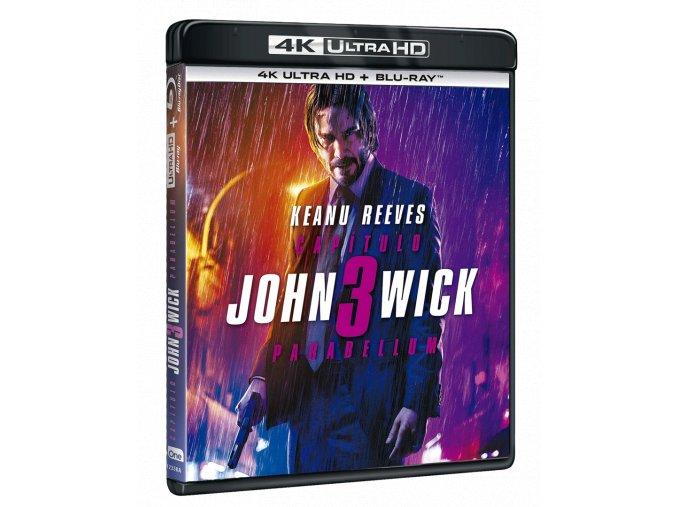 John Wick 3 (4k Ultra HD Blu-ray + Blu-ray, BEZ CZ PODPORY)
