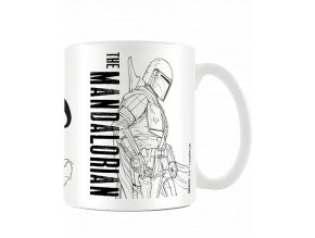 Hrnek Star Wars - Mandalorian: Line Art (315 ml)