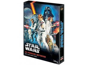 Zápisník Star Wars: Nová naděje - napodobenina VHS (A5, 240 stran)