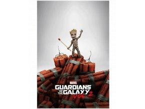 Plakát Marvel: Strážci galaxie 2 - Baby Groot a Dynamit (61 x 91,5 cm)