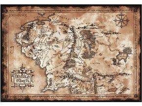 Plakát Pán prstenů: Mapa Středozemě (91,5 x 61 cm)