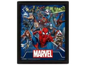Lentikulární 3D Obraz Marvel: Avengers (Cinematic Icons, 25 x 20 cm)