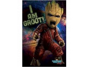 Plakát Marvel: Strážci galaxie 2 - Angry Groot (91,5 x 61 cm)