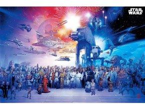 Plakát Star Wars Universe (Postavy ze světa Hvězdných válek, 91,5 x 61 cm)