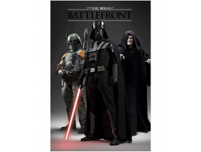 Plakát Star Wars Battlefront: Darth Vader, Boba Fett a Darth Sidious (91,5 x 61 cm)