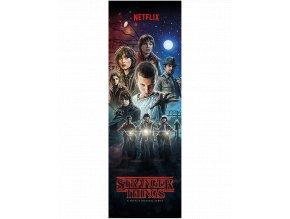 Plakát na dveře Stranger Things Season 1: Hlavní hrdinové (158 x 53 cm)
