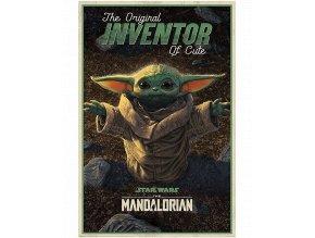 Plakát Star Wars - Mandalorian: Vynálezce roztomilosti (Baby Yoda / Grogu, 91 x 61 cm)