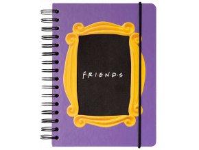 Zápisník Přátelé: Fotorámeček (A5, 180 stran)