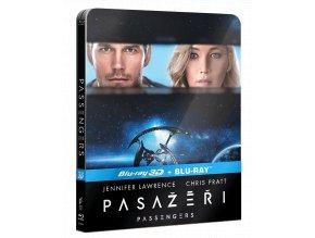 Pasažéři (Blu-ray 3D + Blu-ray 2D, Steelbook)