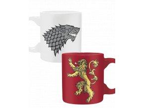 Hrnečky Game of Thrones - Stark & Lannister (2x 110ml)